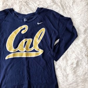 NIKE CAL BEARS navy tailgate long sleeve t-shirt
